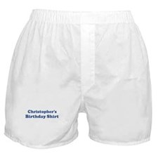 Christopher birthday shirt Boxer Shorts