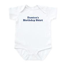 Damien birthday shirt Infant Bodysuit