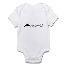 Dolphin+Ocean=Happy Infant Bodysuit