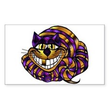 Golden Cheshire Cat Rectangle Decal