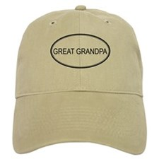 GREAT GRANDPA (oval) Baseball Cap
