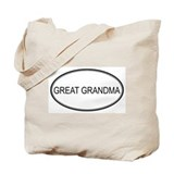 GREAT GRANDMA (oval) Tote Bag