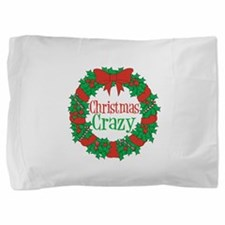 Christmas Crazy Wreath Pillow Sham