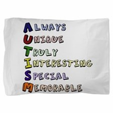 Autism Acronym Pillow Sham