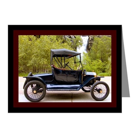 Waterfall Classic Car Note Cards (Pk of 10)