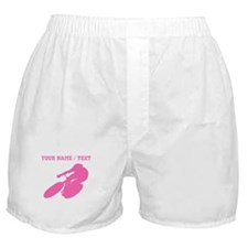 Pink Cyclist (Custom) Boxer Shorts