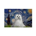 Starry Night & Maltese Rectangle Magnet