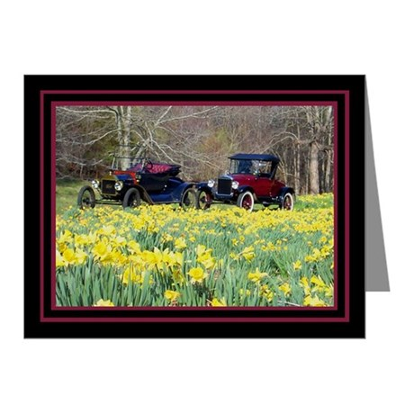 Buttercups Classic Cars Note Cards (Pk of 20)