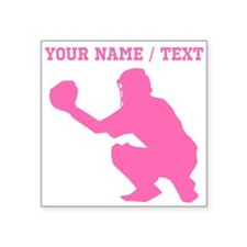 Pink Baseball Catcher (Custom) Sticker