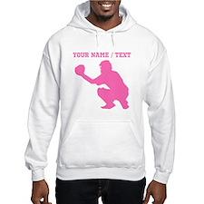Pink Baseball Catcher (Custom) Hoodie