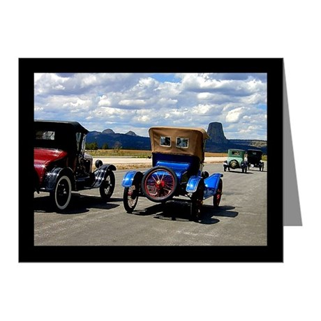 Devil's Tower Old Cars Note Cards (Pk of 20)