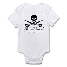 Crappy Pirate Costume Infant Bodysuit