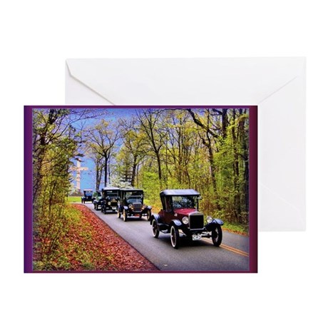 Country Lane Vintage Auto Greeting Cards (Pk of 20