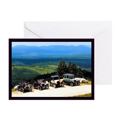 Green Valley Classic Cars Greeting Cards (Pk of 20