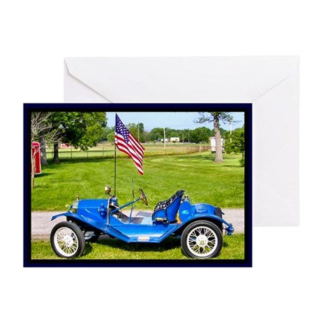 Patriotic Antique Car Greeting Cards (Pk of 20)