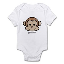 I fling poo Infant Bodysuit