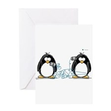 Communication - Penguin Humor Greeting Card