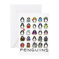 Lots of Penguins Greeting Card