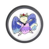 Ellie's Ballerina Cat Wall Clock
