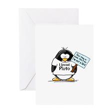 Pluto Penguin Greeting Card