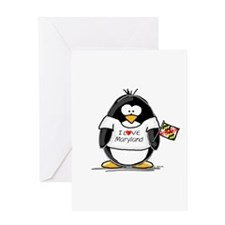 Maryland Penguin Greeting Card
