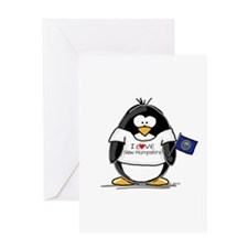 New Hampshire Penguin Greeting Card