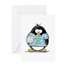 volleyball bump set spike Pen Greeting Card