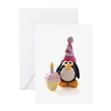 Birthday Penguin Greeting Card