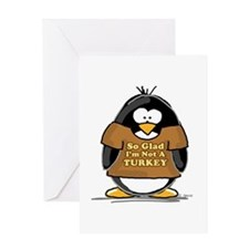 Not a Turkey Penguin Greeting Card