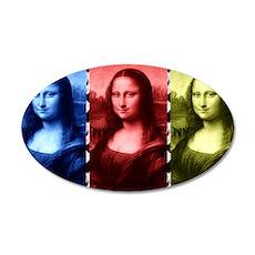 Mona Lisa Animal Print Primary Colors Wall Decal