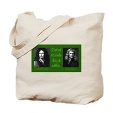 Leibniz and Newton Tote Bag