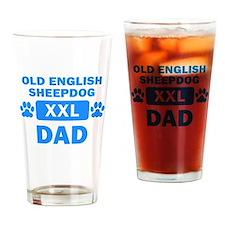 Old English Sheepdog Dad Drinking Glass