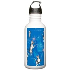 Funny playing cartoon cats Water Bottle