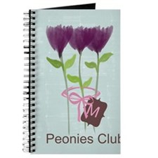 Watercolor Peonies Gardener Journal