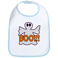 Boo Halloween Ghost Bib