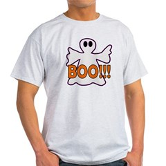 Boo Halloween Ghost Light T-Shirt