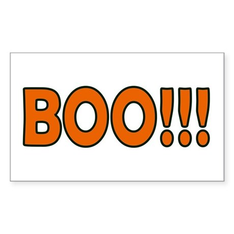 Boo Halloween Rectangle Sticker