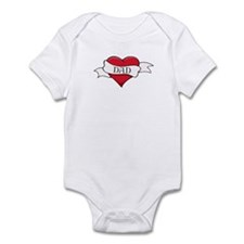 Dad Tattoo Hip Trendy Baby/Toddler bodysuit