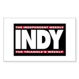 Independent Weekly Rectangle Decal
