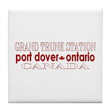 'Port Dover Script' Tile Coaster