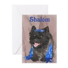 Shalom Cairn Terrier Greeting Cards (Pk of 20)