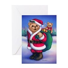 Santa Teddy Greeting Card