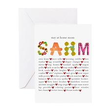 SAHM Greeting Card