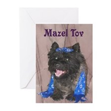 Mazel Tov Cairn Terrier Greeting Cards (Pk of 20)