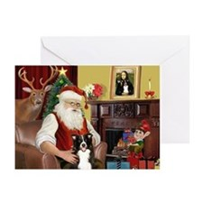 Santa's Border Collie Greeting Cards (Pk of 10)