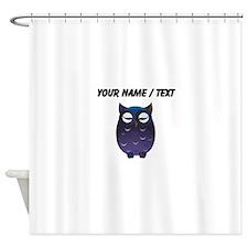 Custom Sleeping Owl Shower Curtain