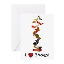 I love shoes Greeting Cards (Pk of 20)