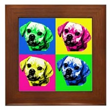 Pop Art Puggle<bR> Framed Tile