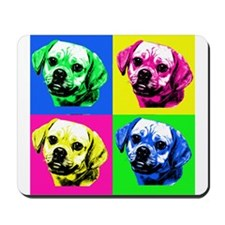 Pop Art Puggle<bR> Mousepad