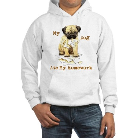 Pug Ate Homework Hooded Sweatshirt